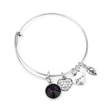 February Birthstone Charm Bangle - Ashley Jewels - 3