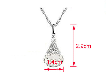Crystal Water Drop Pendant - Ashley Jewels - 8