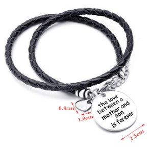The Love Between a Mother and Son is Forever-Hand Stamped Bracelet - Ashley Jewels - 2