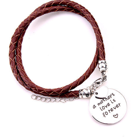 A Mother's Love is Forever-Hand Stamped Bracelet - Ashley Jewels - 1