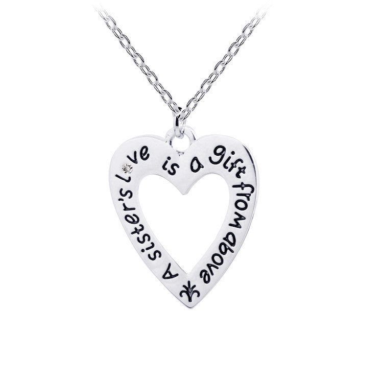 A Sister's Love is a Gift From Above - Pendant - Ashley Jewels - 1