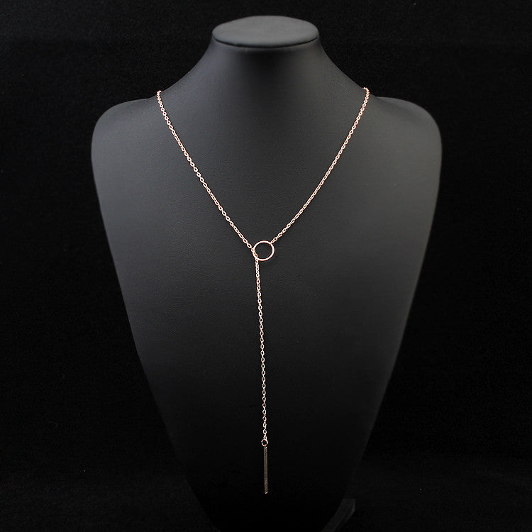 Round Rectangle Layer Necklace - Ashley Jewels - 2