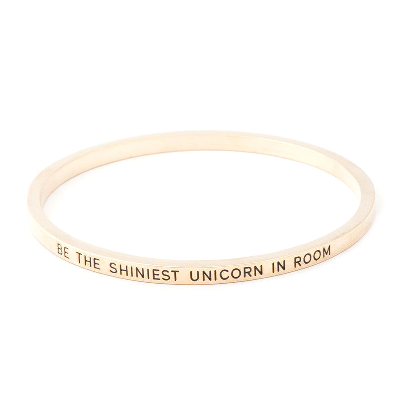 Be the Shiniest Unicorn in Room Engraved Bangle - Ashley Jewels - 5