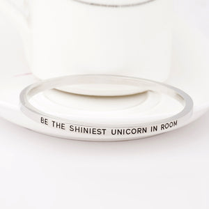 Be the Shiniest Unicorn in Room Engraved Bangle - Ashley Jewels - 6