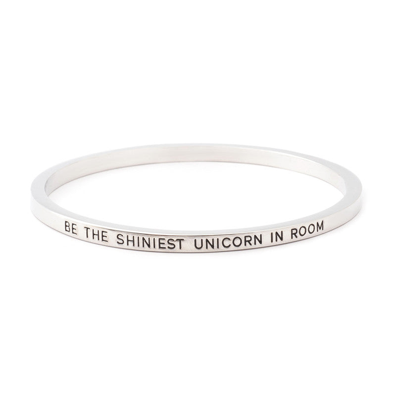 Be the Shiniest Unicorn in Room Engraved Bangle - Ashley Jewels - 2