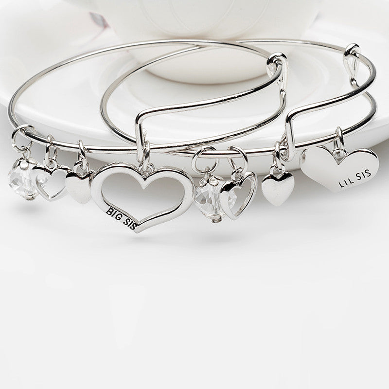 Big Sis Lil Sis Charm Bangle Set - Ashley Jewels - 1