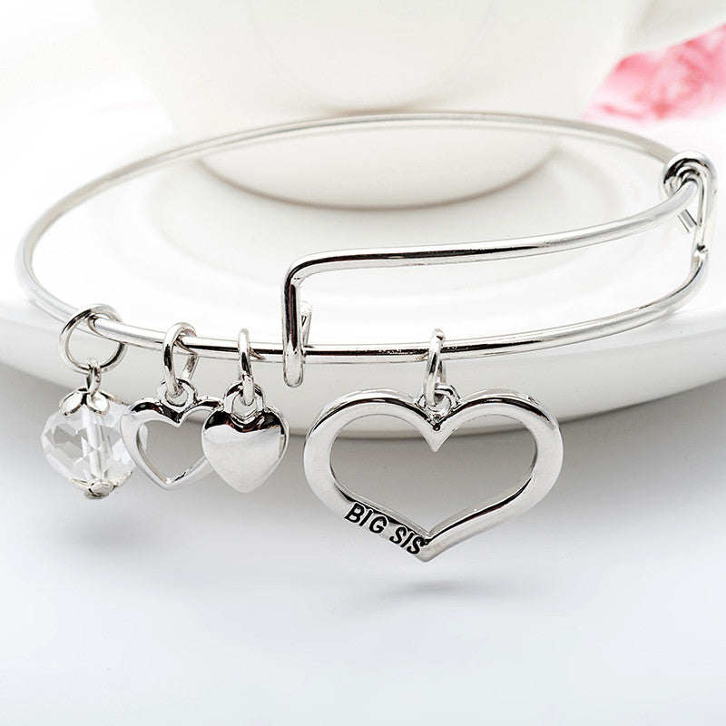 Big Sis Lil Sis Charm Bangle Set - Ashley Jewels - 2