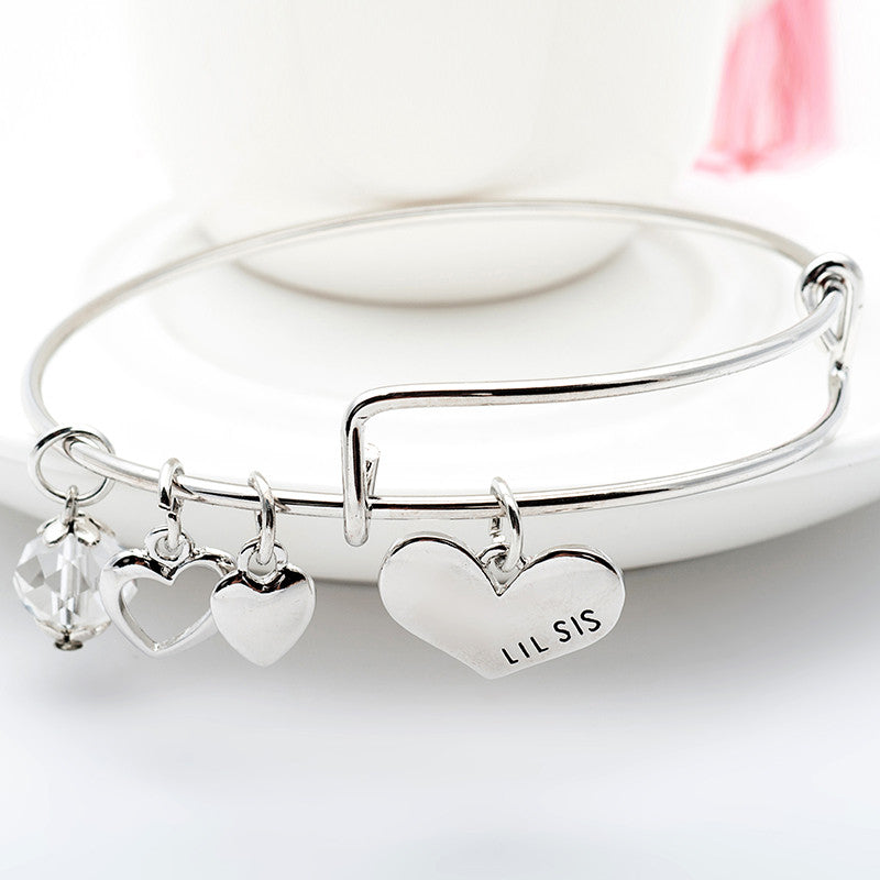 Big Sis Lil Sis Charm Bangle Set - Ashley Jewels - 3