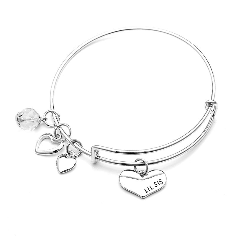 Big Sis Lil Sis Charm Bangle Set - Ashley Jewels - 4
