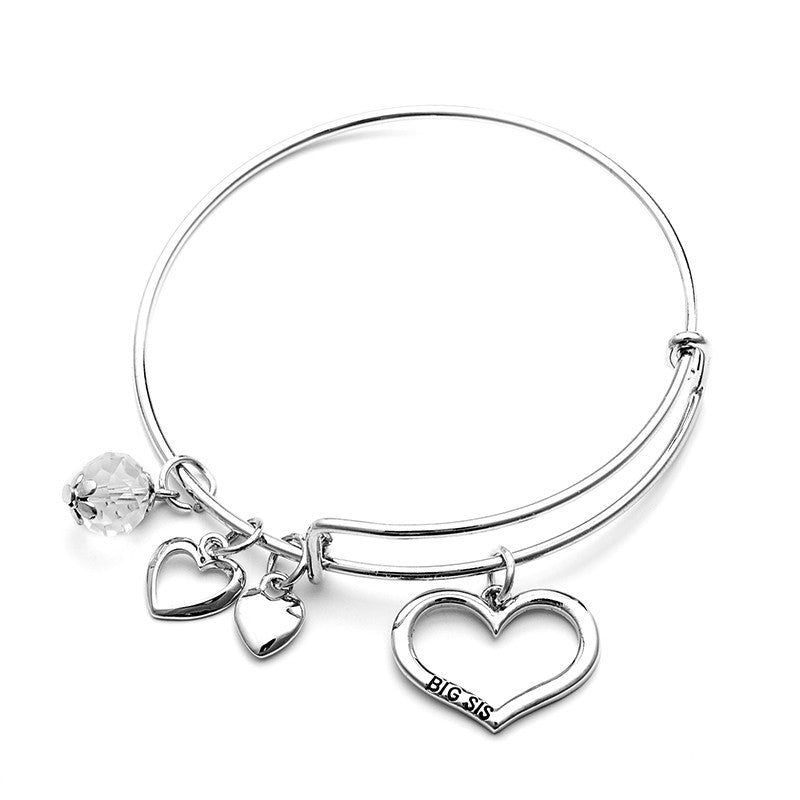 Big Sis Lil Sis Charm Bangle Set - Ashley Jewels - 5
