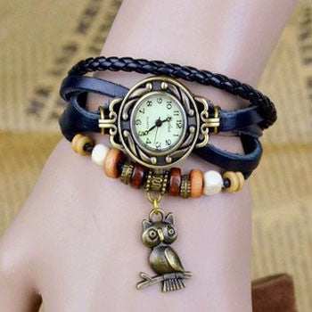 Owl Vintage Wrap Watch - Ashley Jewels - 6