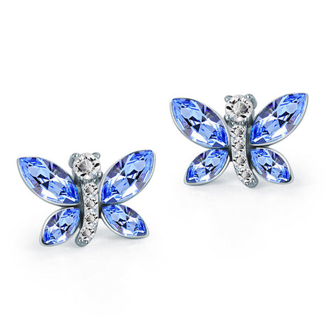 Blue Butterfly Earring - Ashley Jewels - 1