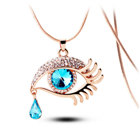 Cleopatra Crystal Eye Necklace - Ashley Jewels