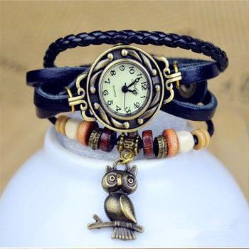 Owl Vintage Wrap Watch - Ashley Jewels - 2