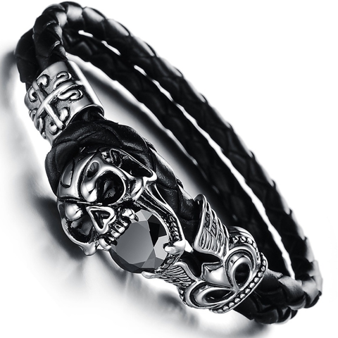 Dark Skull Men's Bracelet - Ashley Jewels - 1
