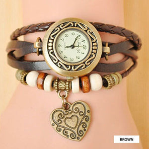 Heart Vintage Wrap Watch - Ashley Jewels - 3