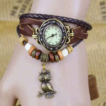 Owl Vintage Wrap Watch - Ashley Jewels - 3