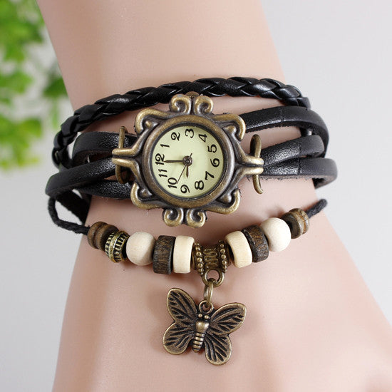 Butterfly Vintage Wrap Watch - Ashley Jewels - 2