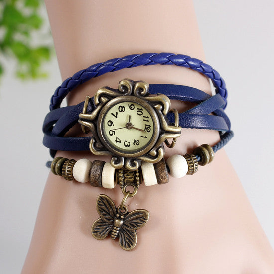 Butterfly Vintage Wrap Watch - Ashley Jewels - 3