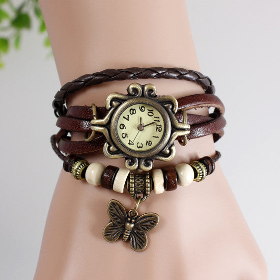 Butterfly Vintage Wrap Watch - Ashley Jewels - 4