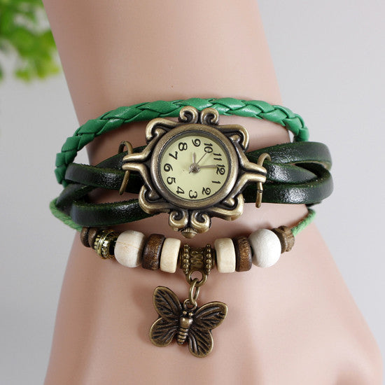 Butterfly Vintage Wrap Watch - Ashley Jewels - 5