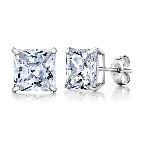 14K White Gold Stud Earrings - Ashley Jewels - 2