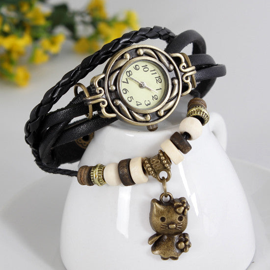 Cat Vintage Wrap Watch - Ashley Jewels - 3