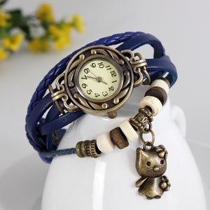 Cat Vintage Wrap Watch - Ashley Jewels - 4