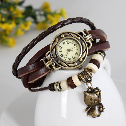 Cat Vintage Wrap Watch - Ashley Jewels - 1