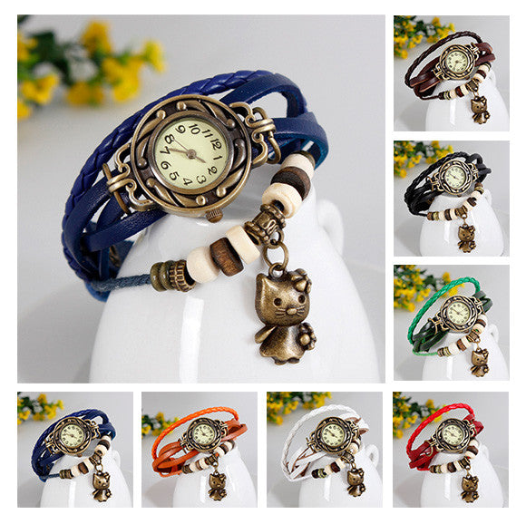 Cat Vintage Wrap Watch - Ashley Jewels - 2
