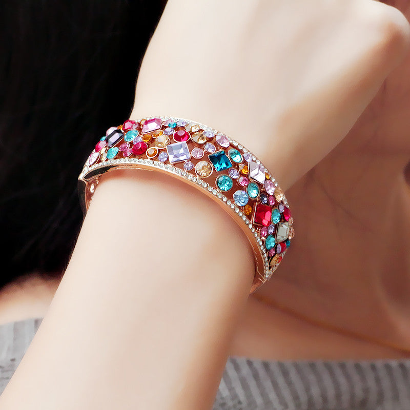 Colorful Crystal Bangle - Ashley Jewels - 2