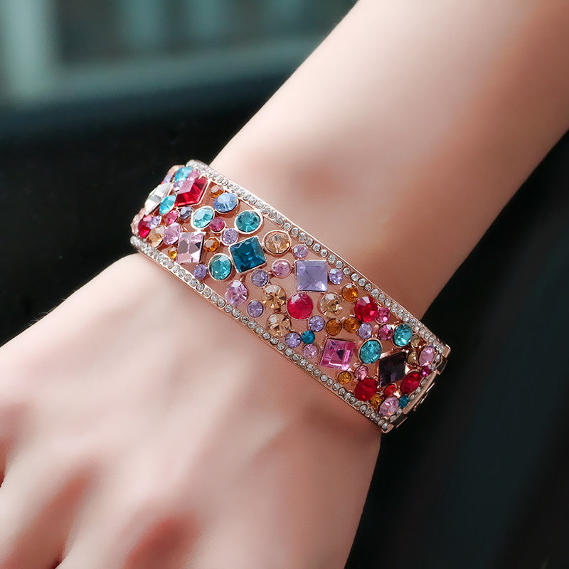 Colorful Crystal Bangle - Ashley Jewels - 3