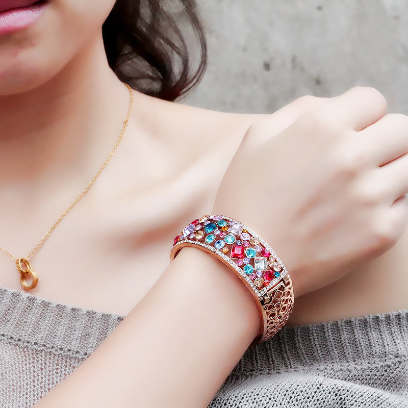 Colorful Crystal Bangle - Ashley Jewels - 4