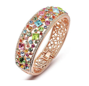 Colorful Crystal Bangle - Ashley Jewels - 1