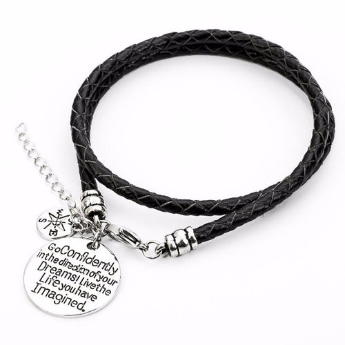Confidently Dream - Hand Stamped Bracelet - Ashley Jewels