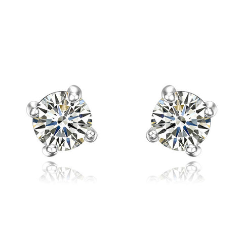 Round Crystal Stud Earring - Ashley Jewels - 1