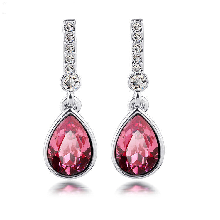 Crystal Teardrop Earring - Ashley Jewels - 1