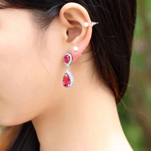 Crystal Teardrop Earring - Ashley Jewels - 2