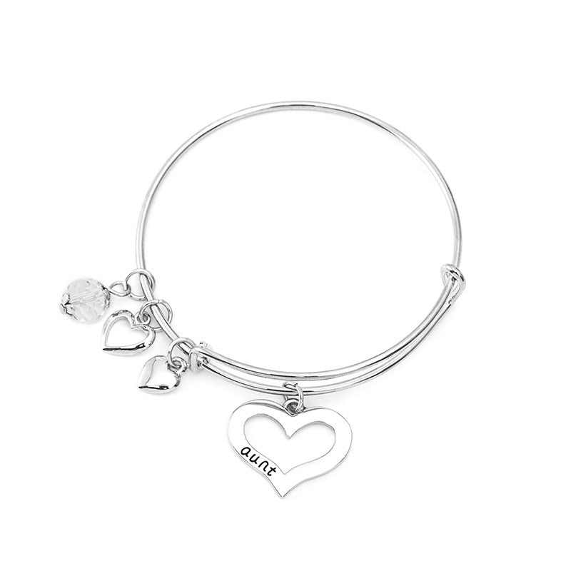 Aunt Niece Charm Bangle Set