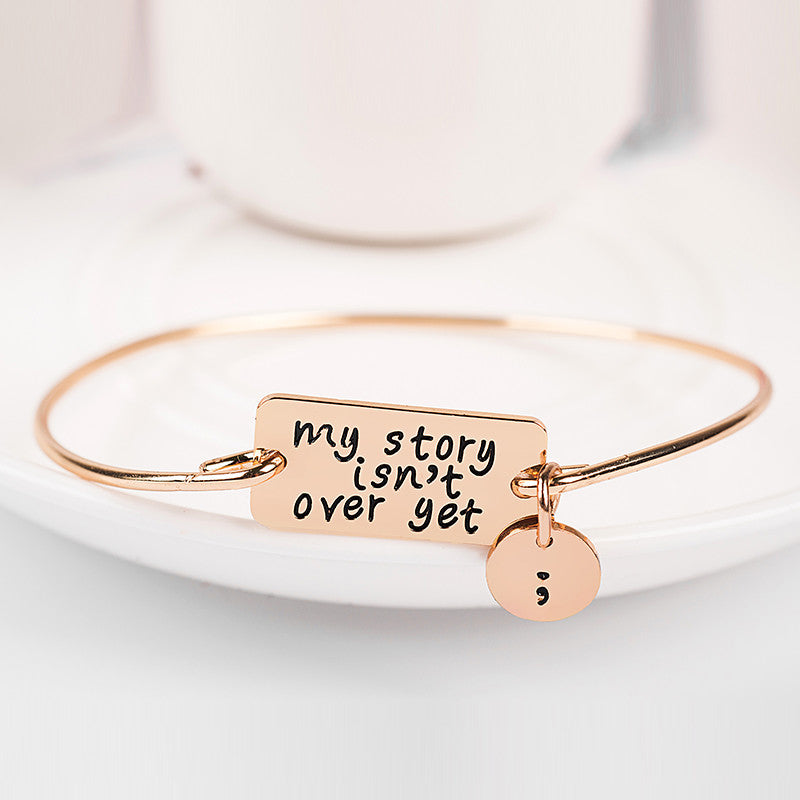 Semi Colon Bangle - Ashley Jewels - 2
