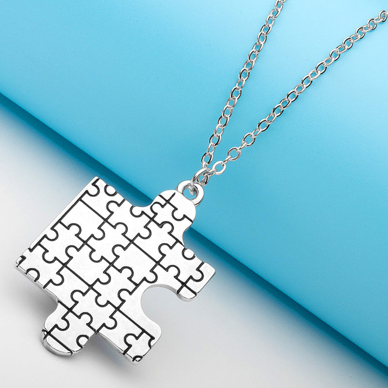 Autism Awareness Puzzle Pendant - Ashley Jewels - 2