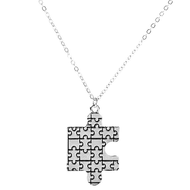 Autism Awareness Puzzle Pendant - Ashley Jewels - 4