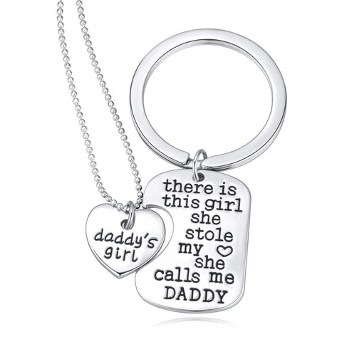 Daddy's Girl Necklace and Keychain Set - Ashley Jewels