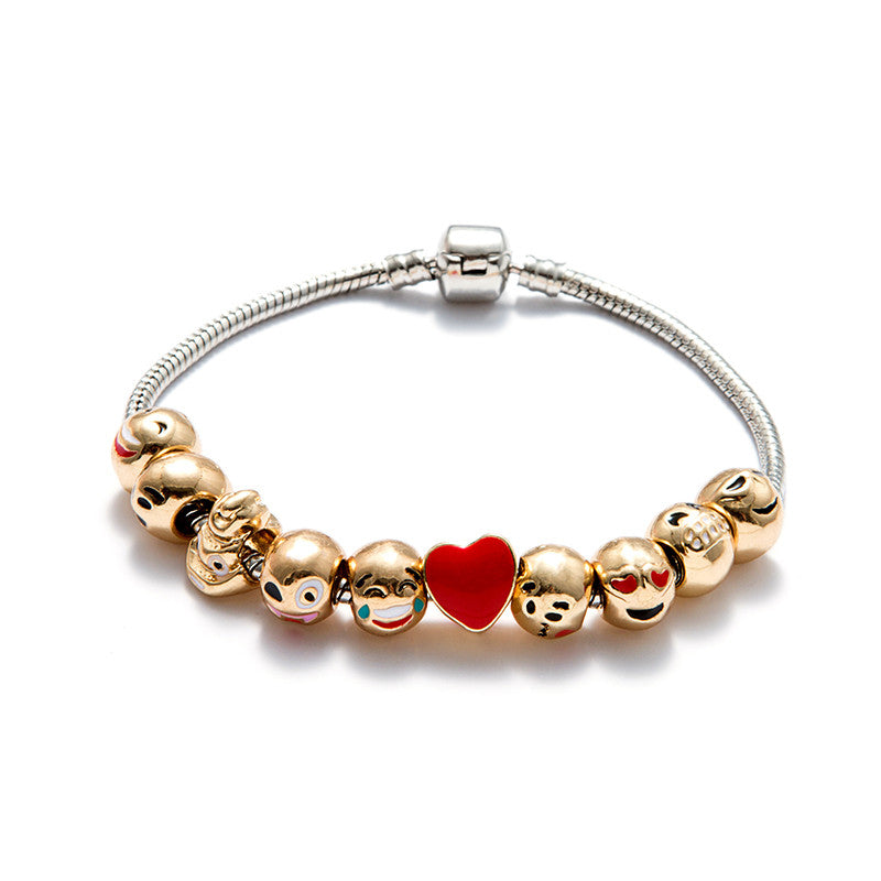 Emoji Charm Bracelet with Free Gift Box - Ashley Jewels - 4