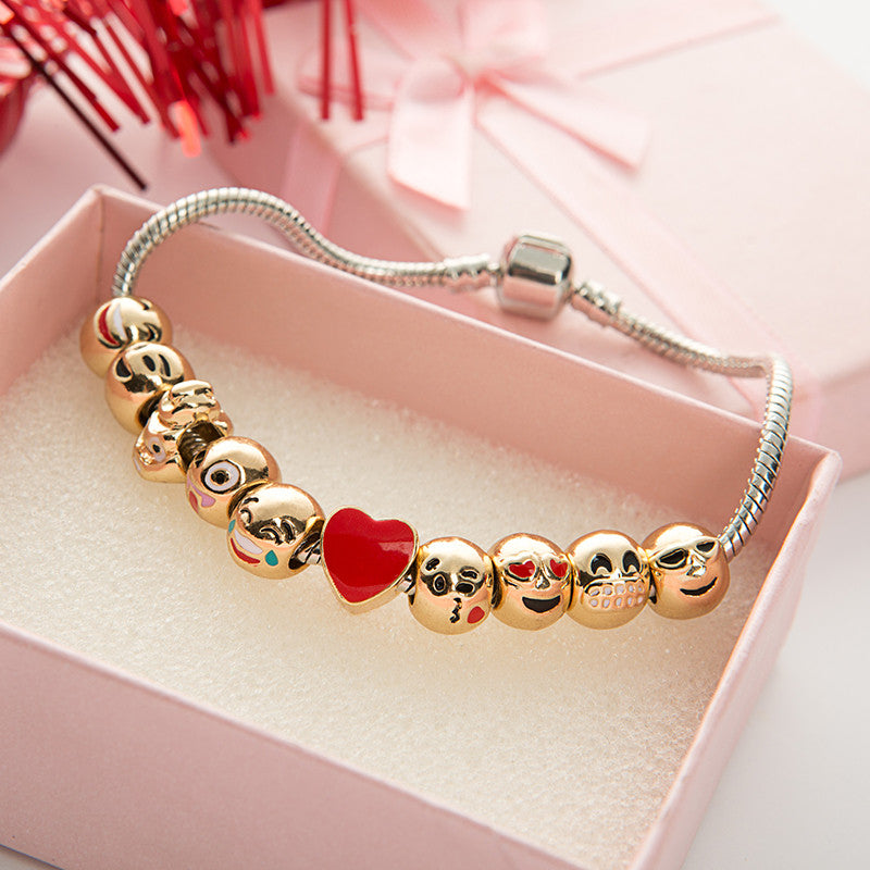 Emoji Charm Bracelet with Free Gift Box - Ashley Jewels - 1