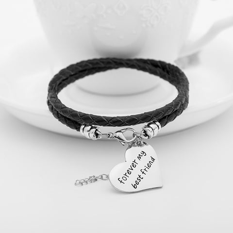 Forever My Best Friend Hand Stamped Bracelet - Ashley Jewels - 1