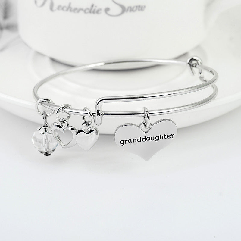 Grandmother Granddaughter Charms Bangle Set - Ashley Jewels - 3