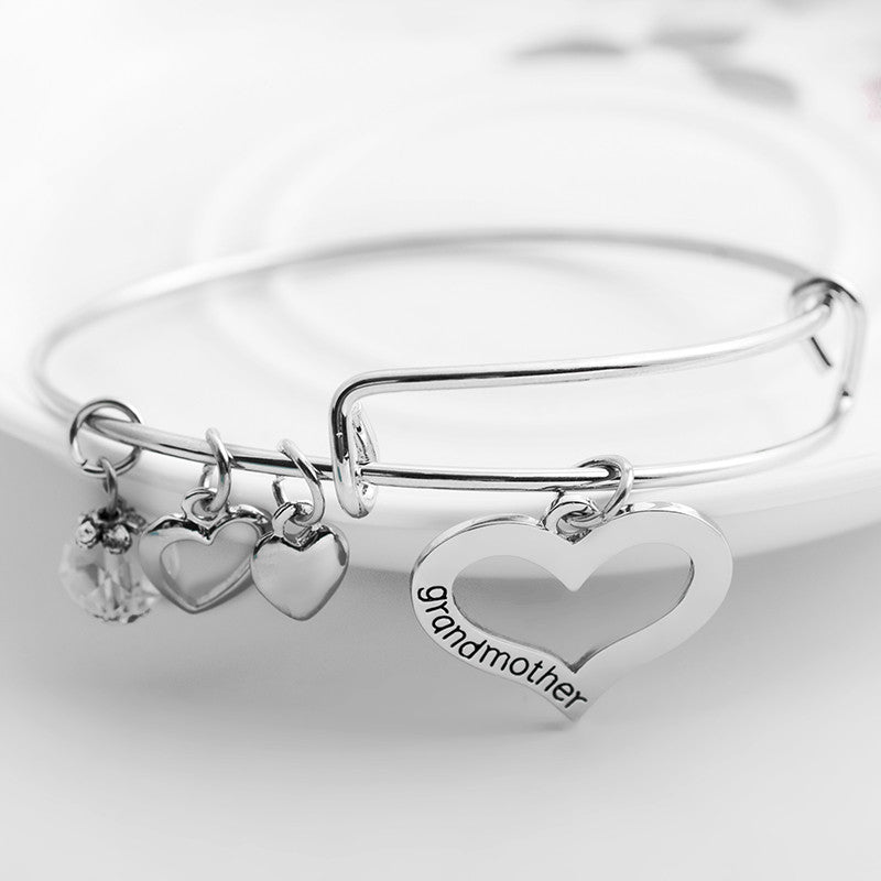Grandmother Granddaughter Charms Bangle Set - Ashley Jewels - 2