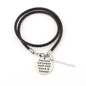 The Love Between Aunt and Niece is Forever- Hand Stamped Bracelet - Ashley Jewels - 2