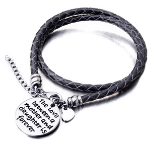 The Love Between a Mother and Daughter is Forever - Hand Stamped Bracelet - Ashley Jewels - 1